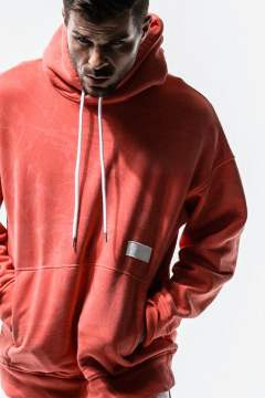 【Begin 2019.10月号掲載】processing loose hoodie / ルーズスエットパーカー / オレンジ